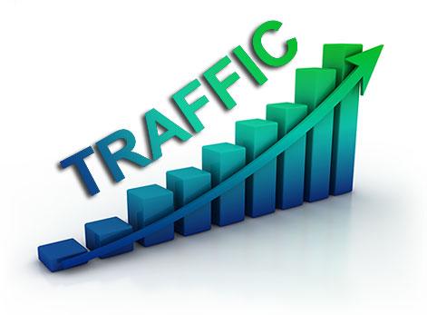 06 Month Social Media Visitors Traffic to Website