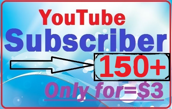 Non Drop 100+50 Bonus YouTube subscribers quick delivery