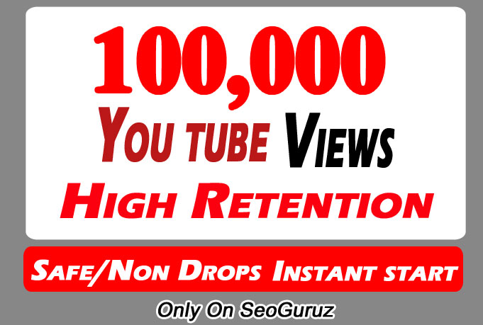 100000 or 100k or 100,000 YouTube views with Some Likes