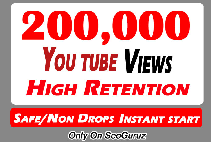 200000 Or 200,000 Or 200K Youtube Views With Some Likes