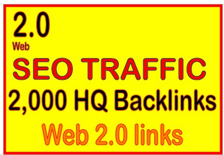 Get 2,000 web 2.0 high quality backlinks for your link s /keywords