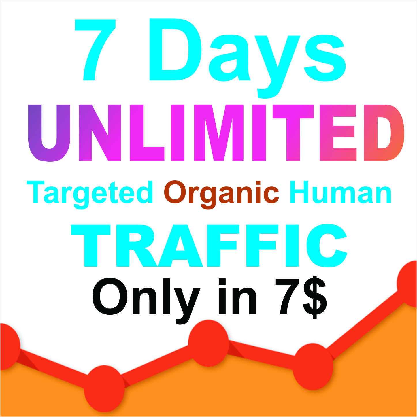 7 days UNLIMITED Keywords Targeted REAL HUMAN TRAFFIC