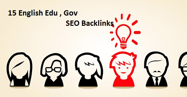 create 15 English Edu , Gov SEO Backlinks