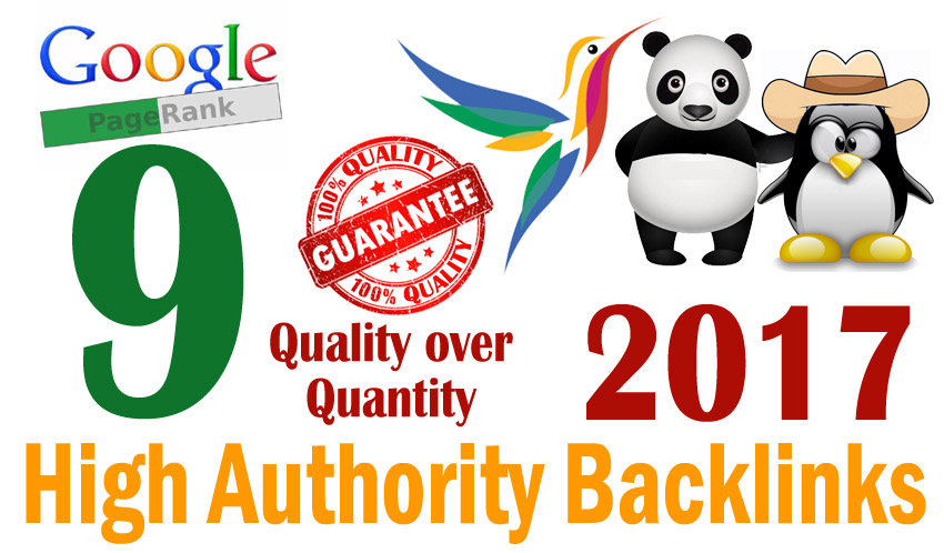Create manually powerful PageRank 9 Backlinks with high quality and login information