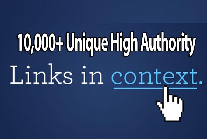 build 10000 authority backlinks for Google ranking