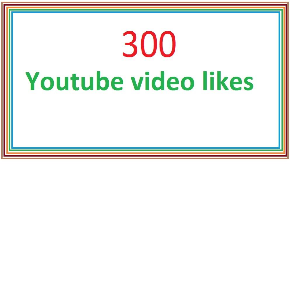300 youtube guranteed video likes