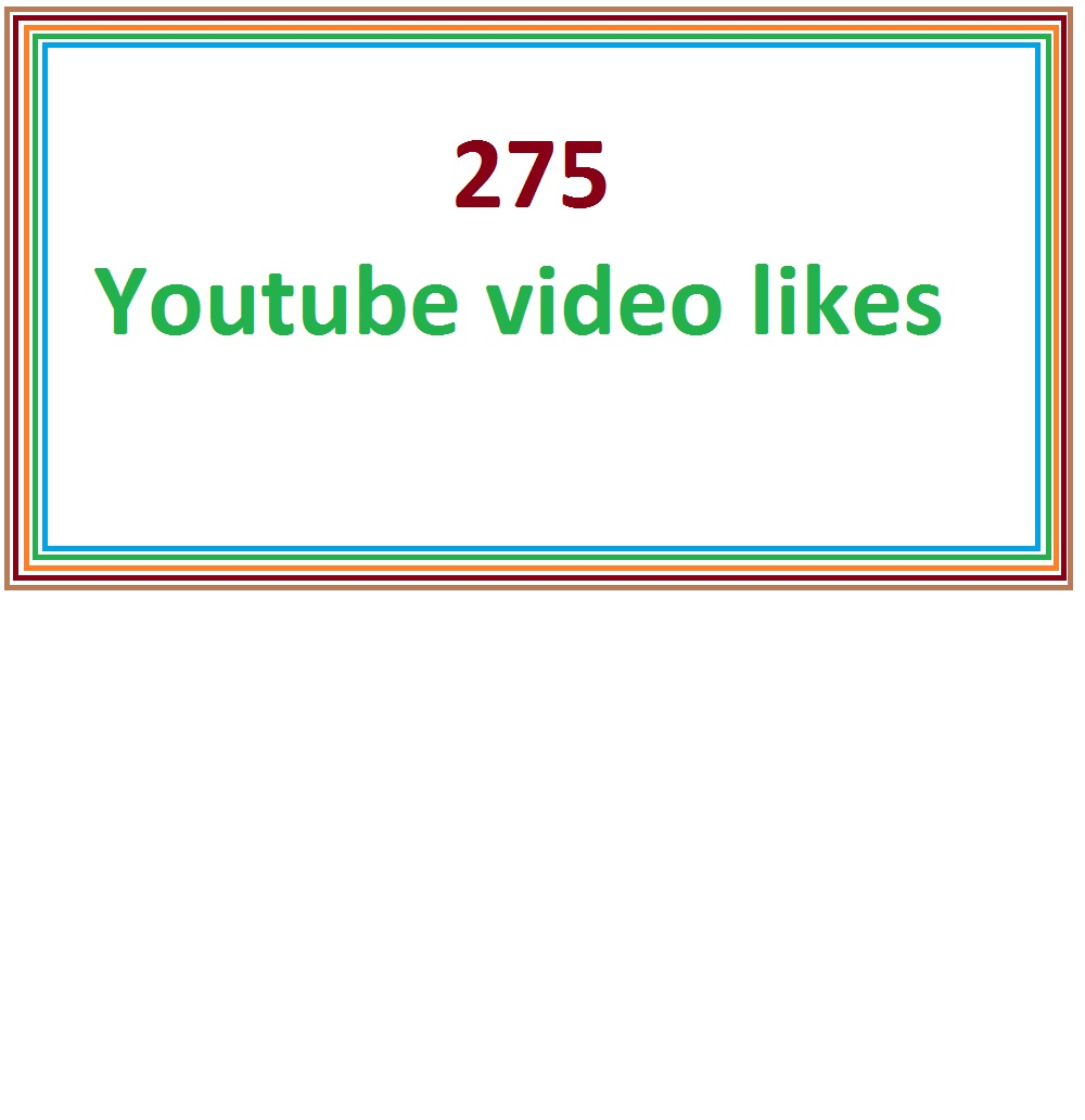 275 youtube guranteed video likes