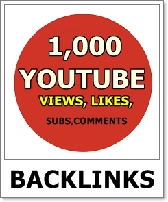 Youtube Backlink 1,000 Views 50 Likes 5 Subscriber 3 Comments