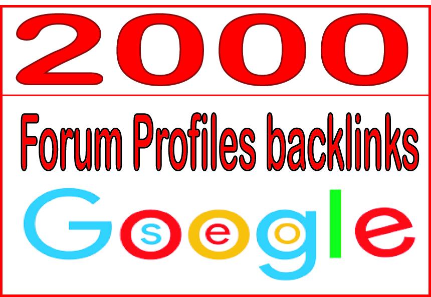 Get you 2000 HQ PR  Forum Profiles backlinks