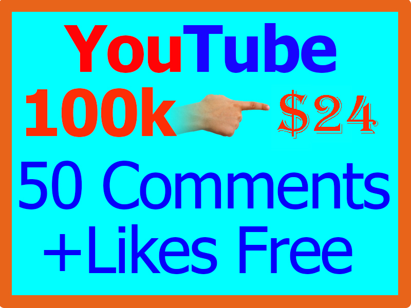 100,000 or 100k YouTube Views [ 100000 ] and 10 Free Comment  with Extra Services 1k 2k 3k 4k 5k 6k 7k 8k 9k 10k 12k 15k 20k 30k 50k 100k 200k 300k 500k 1000 2000 3000 5000 10,000
