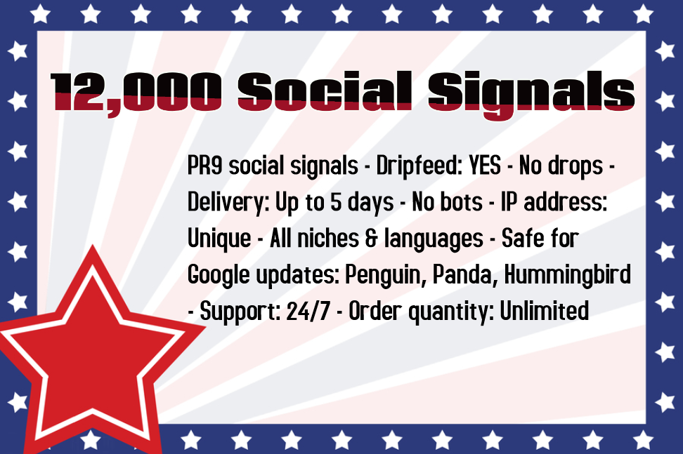 1500 High Quality Social Signals from the Best Social Media Website