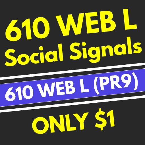 610+ High Quality PR9 Web Social Signals from the 1 Best Social Media Network