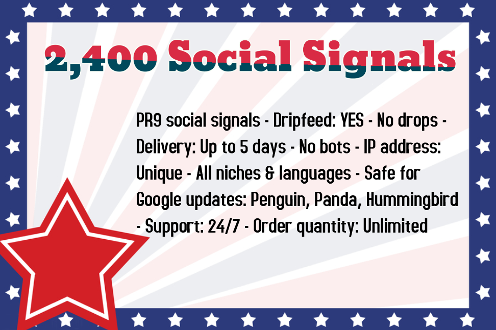 300 High Quality Social Signals from the Best Social Media Website