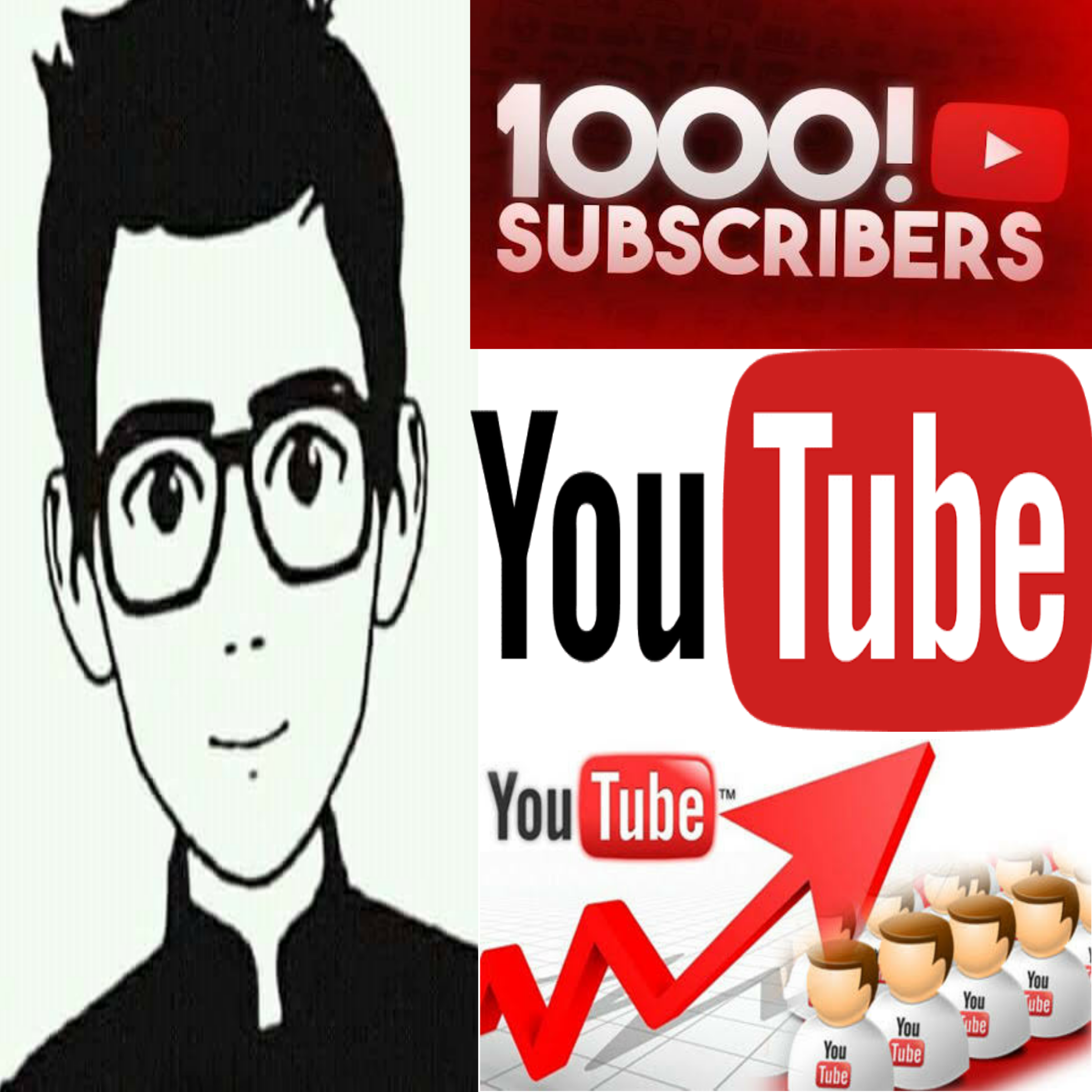 Non-Drop GUARANTEED 1000+  channel subscriber just 3 hours complete