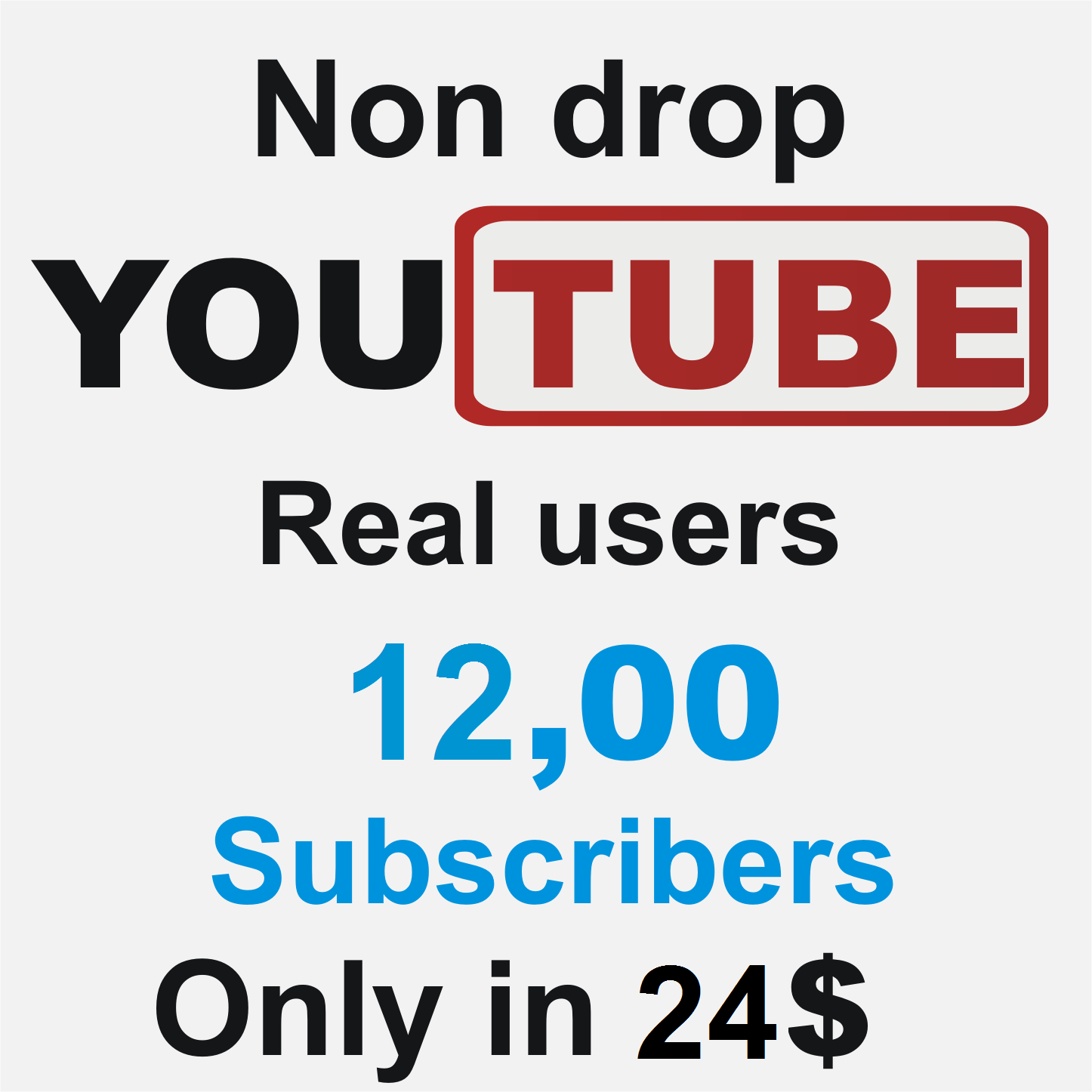 Add 1200 Real Non Drop YouTube subscribers
