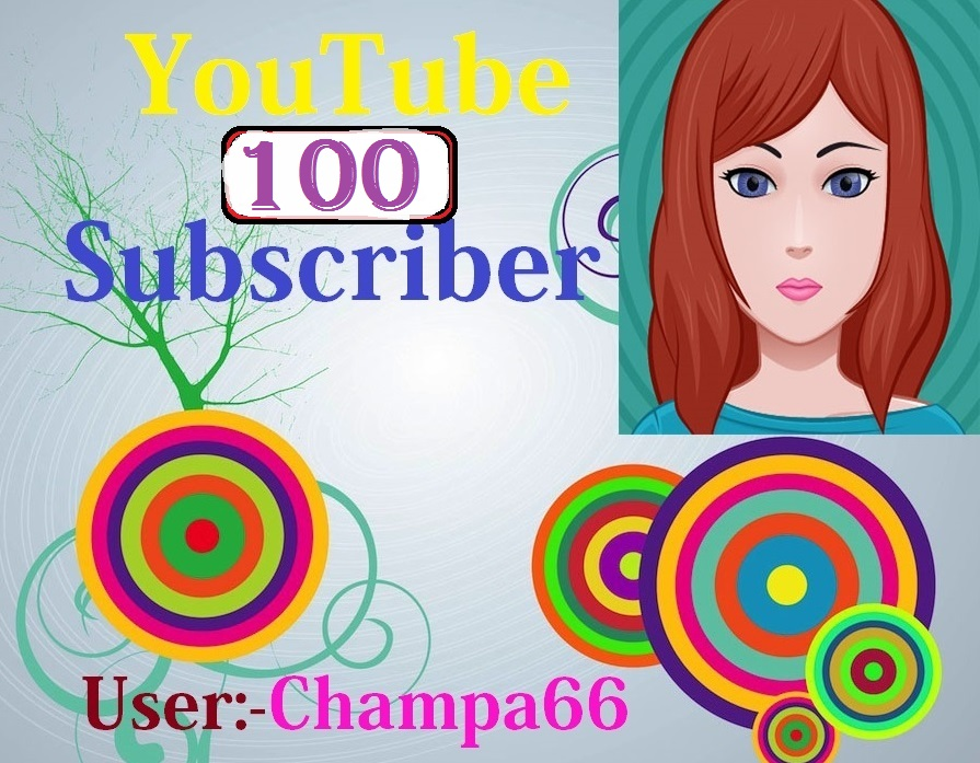 Non drop 100+ YouTube Channel Active Subscriber With Bonus very fast complete