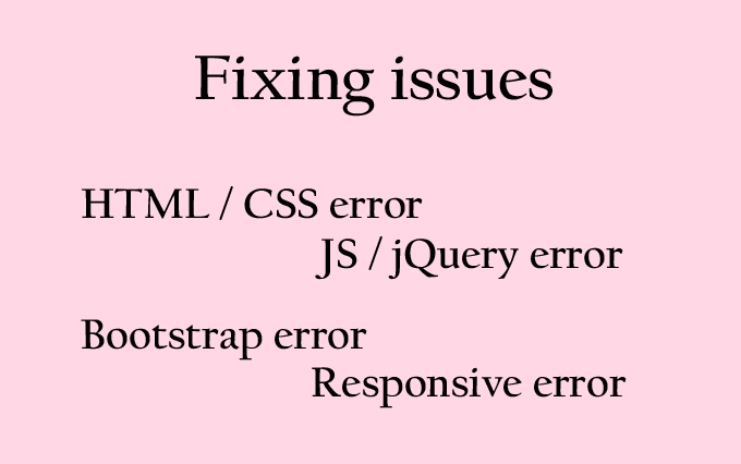 fix issue html, css, bootstrap and responsive websi...