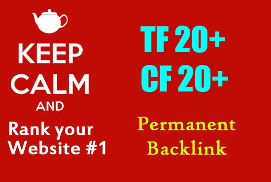 I will create 12 permanent High da pa cf PBN posts on high trust flow
