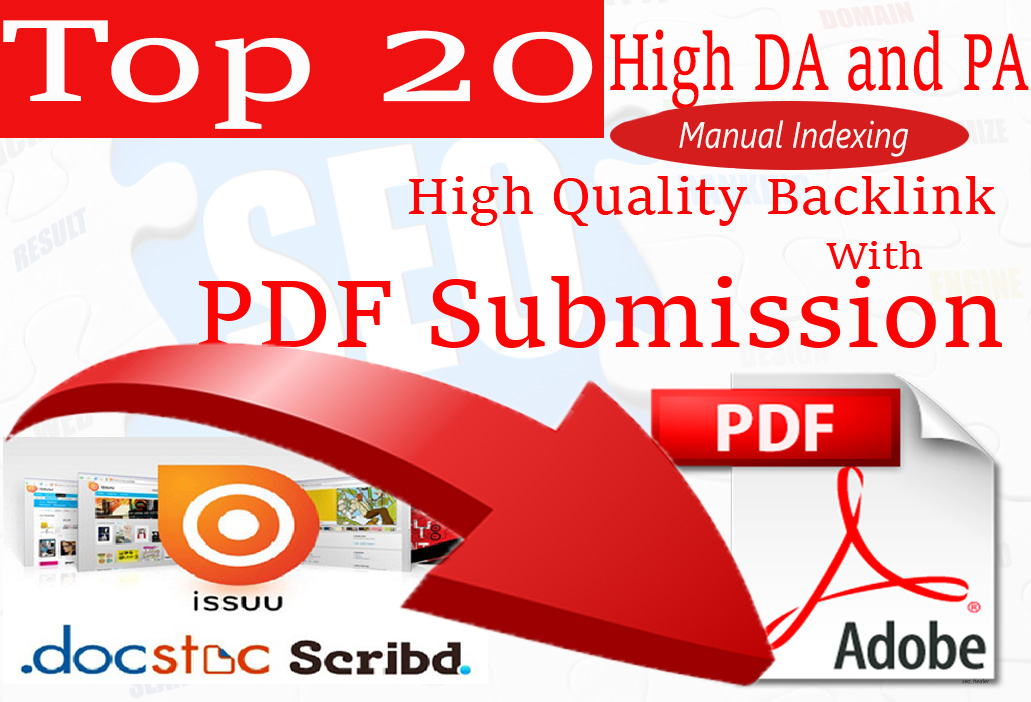 submit PDF files to 20 Best document sharing sites Manually