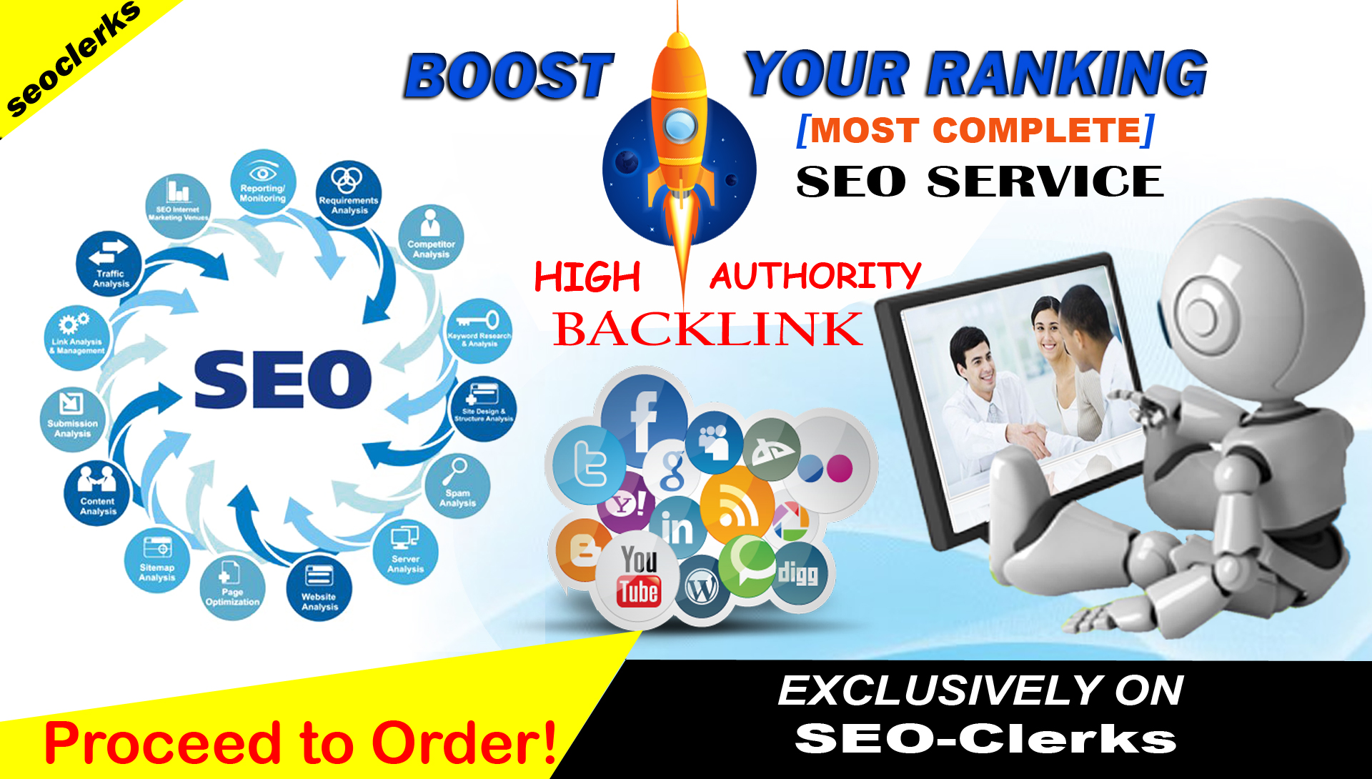 Rank High On Google With 200 Manual White Hat SEO Backlink
