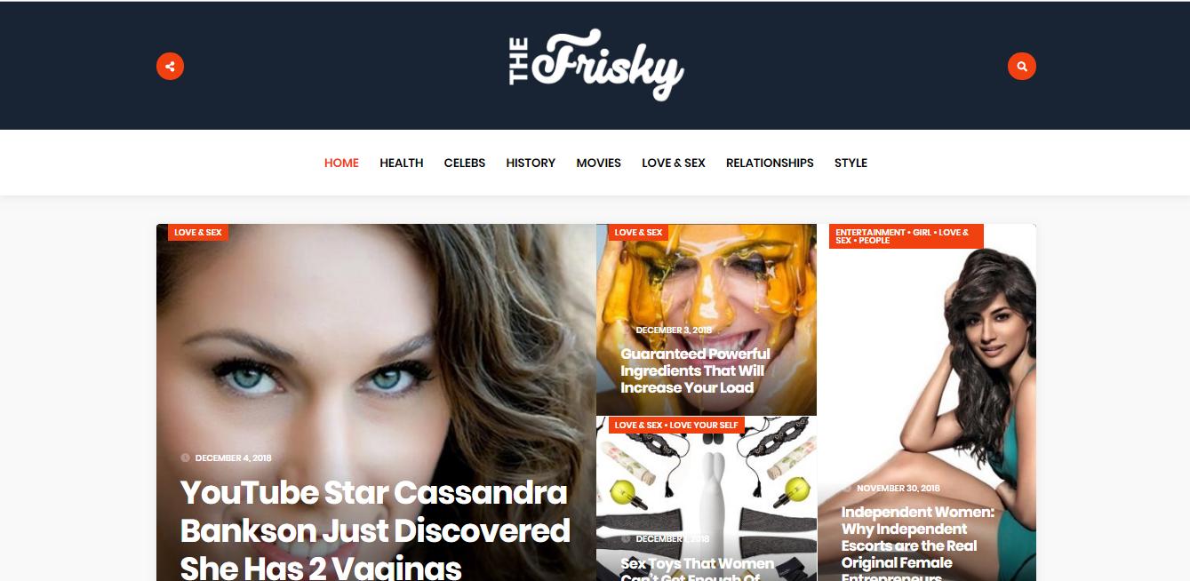 Publish Guest Post on Thefrisky. com DA 76 - Premium Dofollow Backlink