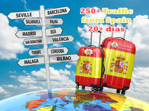 send 250 traffic from Spain 30 days long + extra