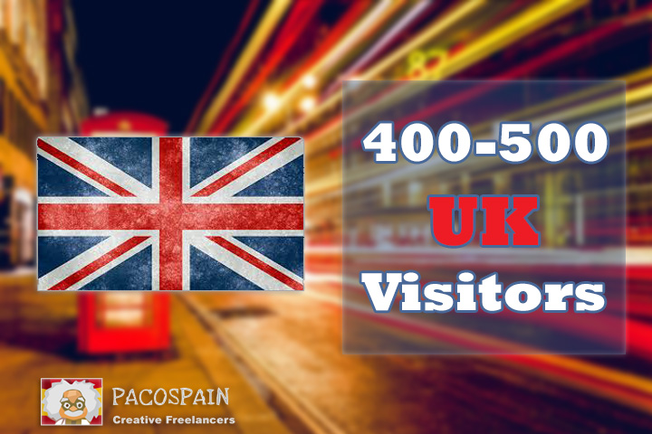 400-500 UK Targeted Visitors for 30 Days with low bounce rate