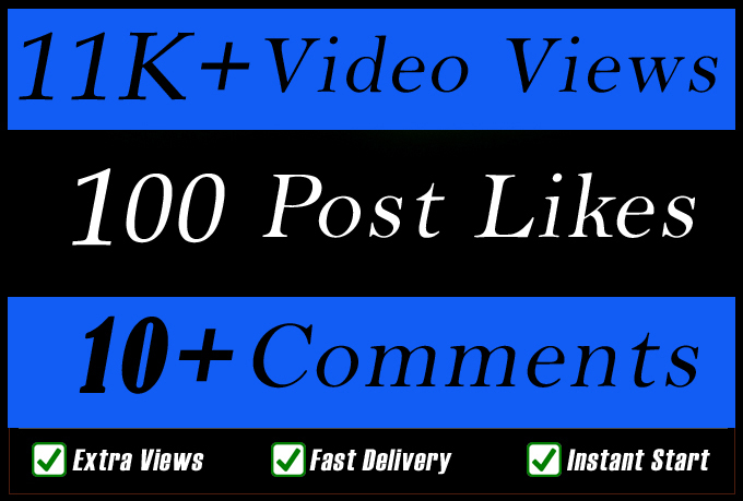 World Wide Video Views Promotion Or Likes Or Comments for Social media Marketing
