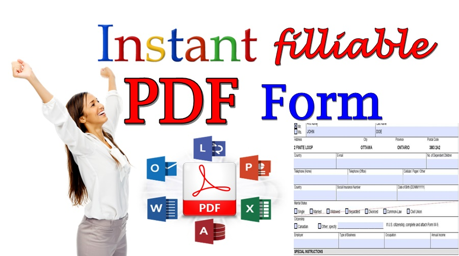 Create Instant Filliable PDF Form