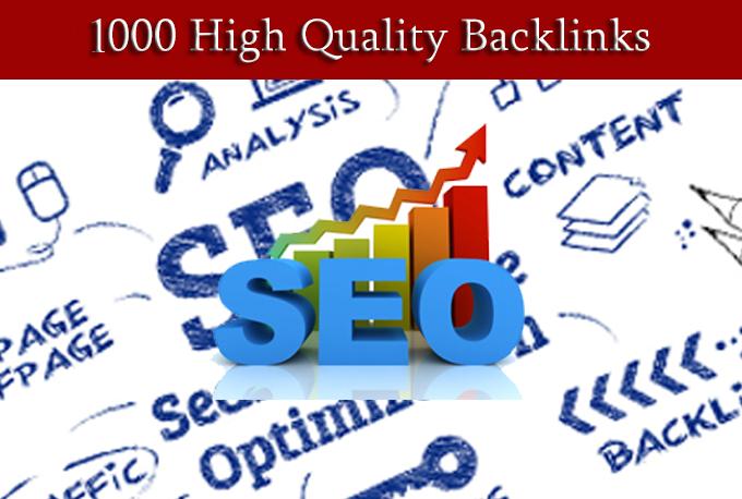 Build 1000 High Quality Backlinks