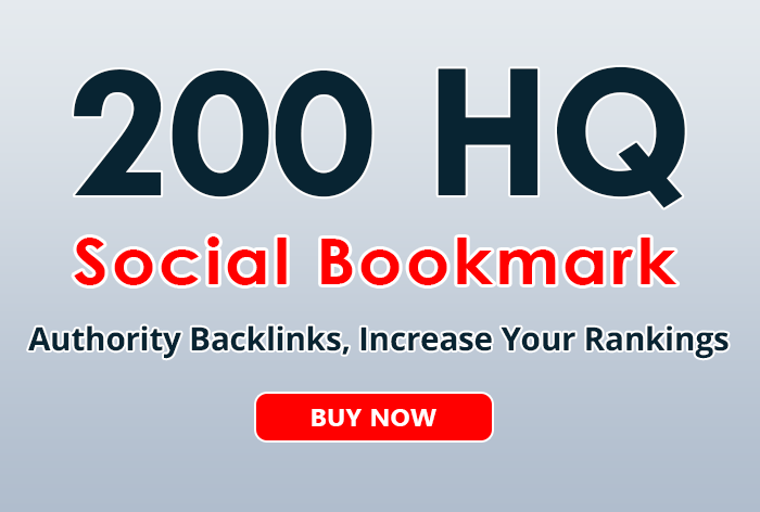 200+ social bookmarks to your site within 3 day