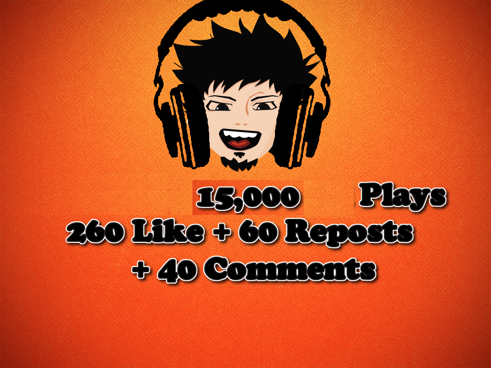 15,000 Plays + 260 Like + 60 Reposts + 40 Comments