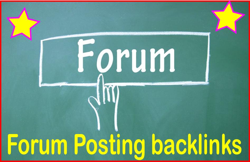 Do 1200 Forum posting backlinks High PR Metrics Backlinks