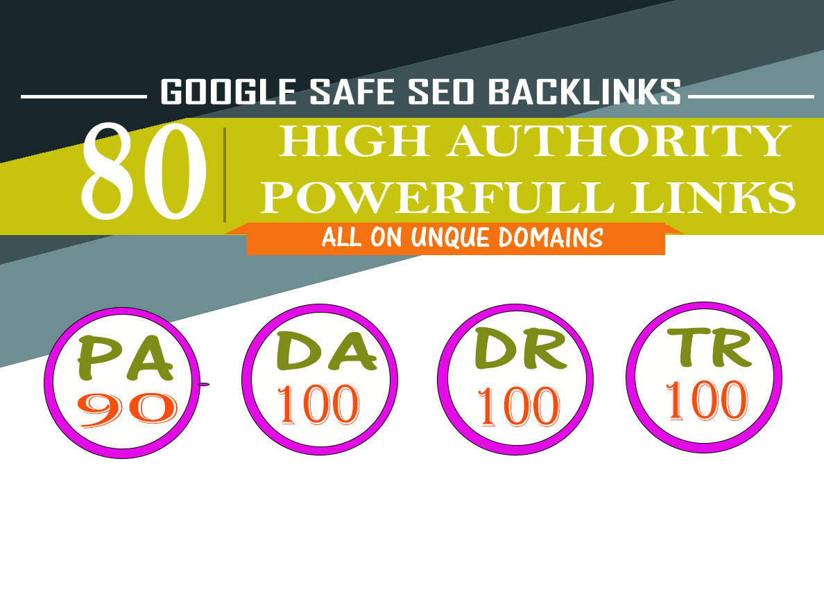 Will MANUALLY Do 80 UNIQUE PR10 SEO BackIinks on DA100 sites Plus Edu Links