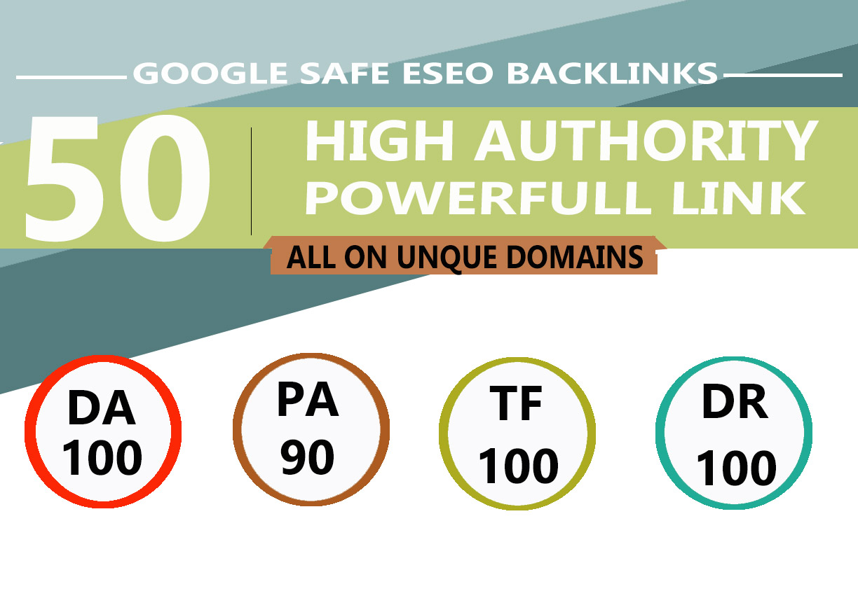 I Will MANUALLY Do 50 UNIQUE PR10 SEO BackIinks on DA100 sites Plus Edu Links