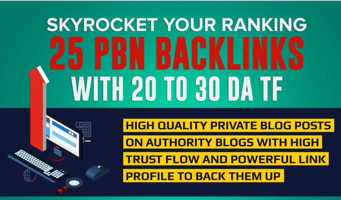 create 25 permanent PBN contextual backlinks with DA ...