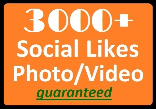 3000+ Social Likes on Pics, Videos, Highquality Promotion faster