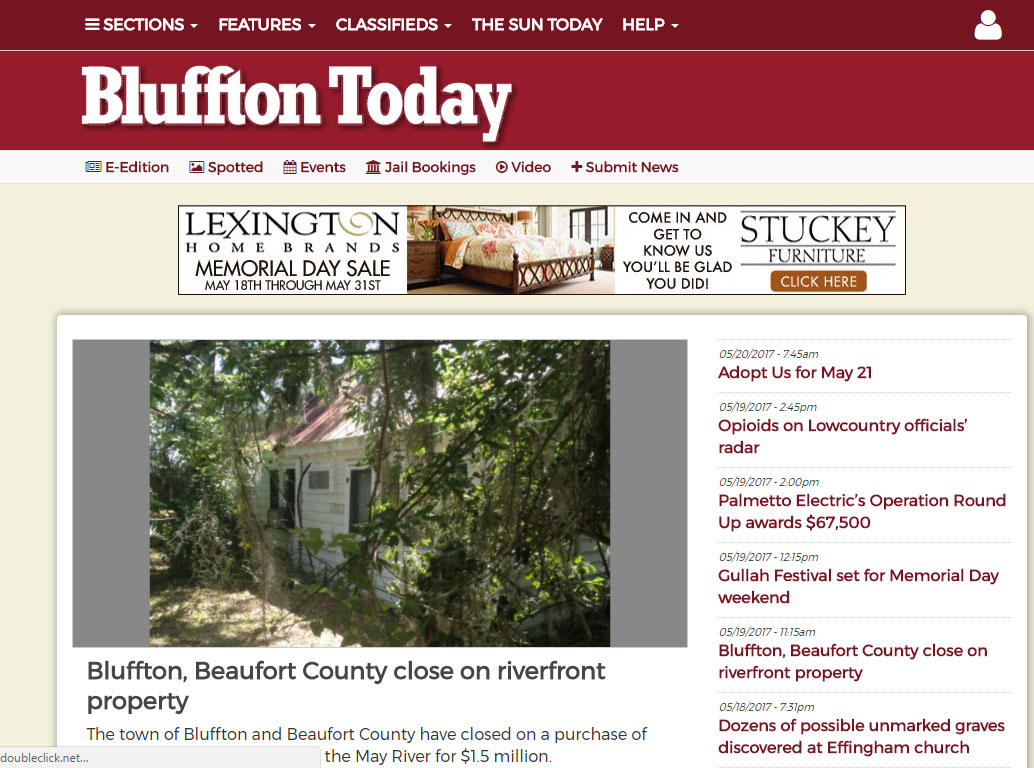 High quality Guest Post on Blufftontoday Newspaper, DA51, TF48