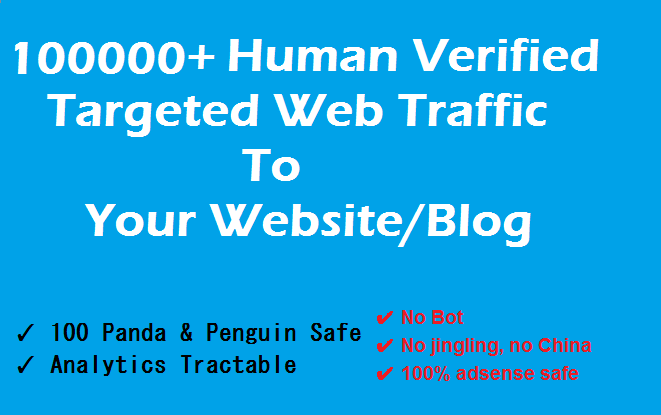 Drive 100000+ TARGETED Human Traffic To Your Blog From Different Search Engines & Social Source