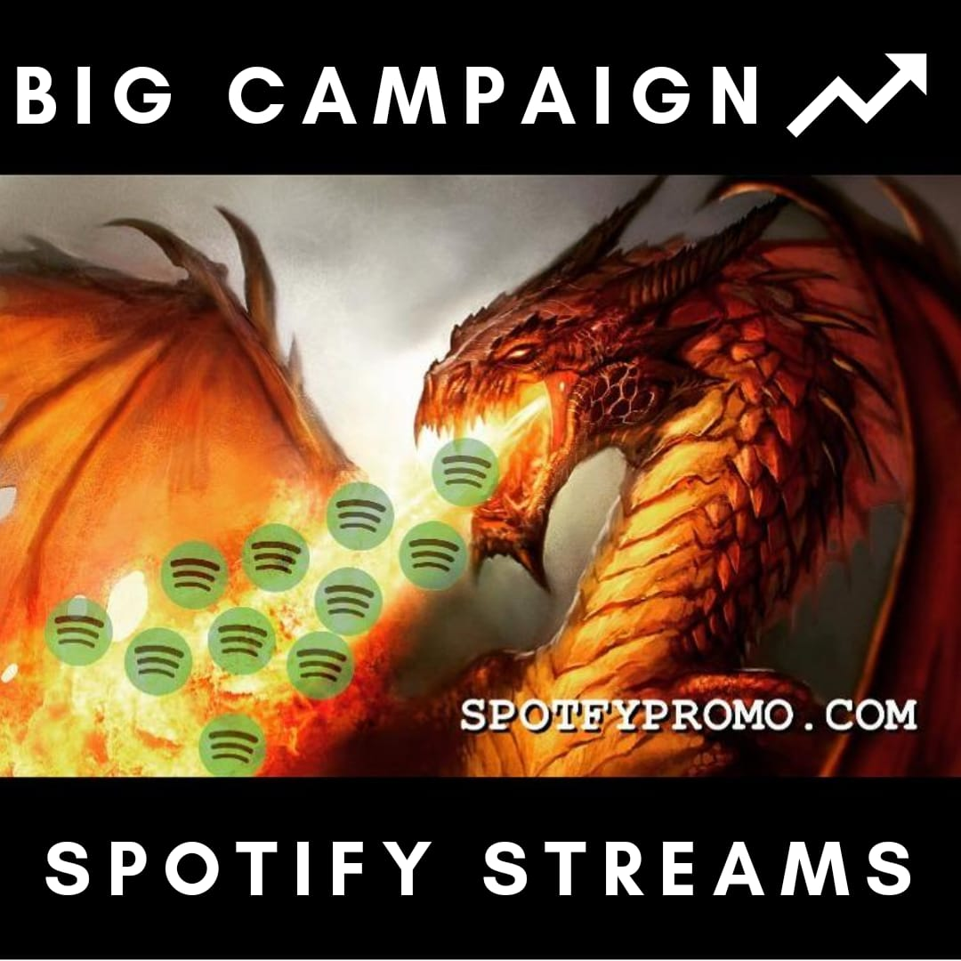SPOTFY message for large orders. Stream promo