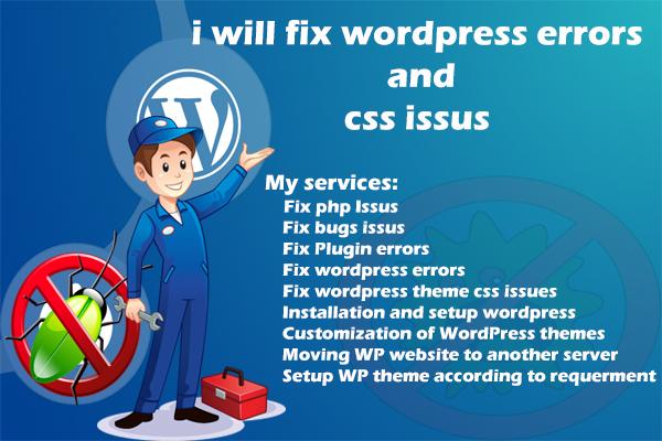 Fix Wordpress Errors And Bug Issus