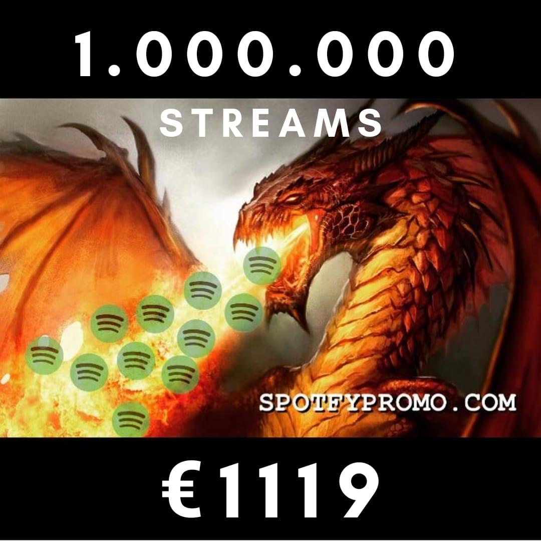 1.000.000 Stream PLAY Music Spotfy for 999