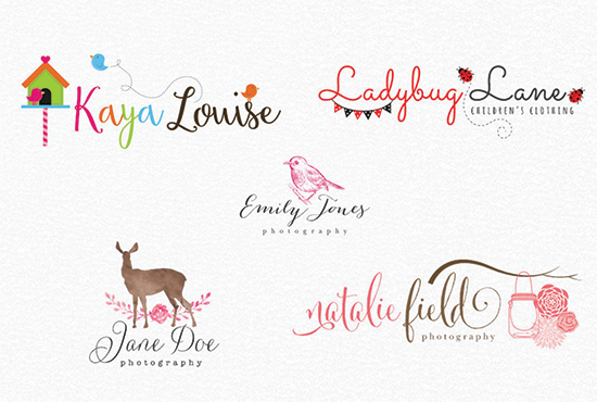 Create Beautiful Watercolor,Feminine And Signature Logo