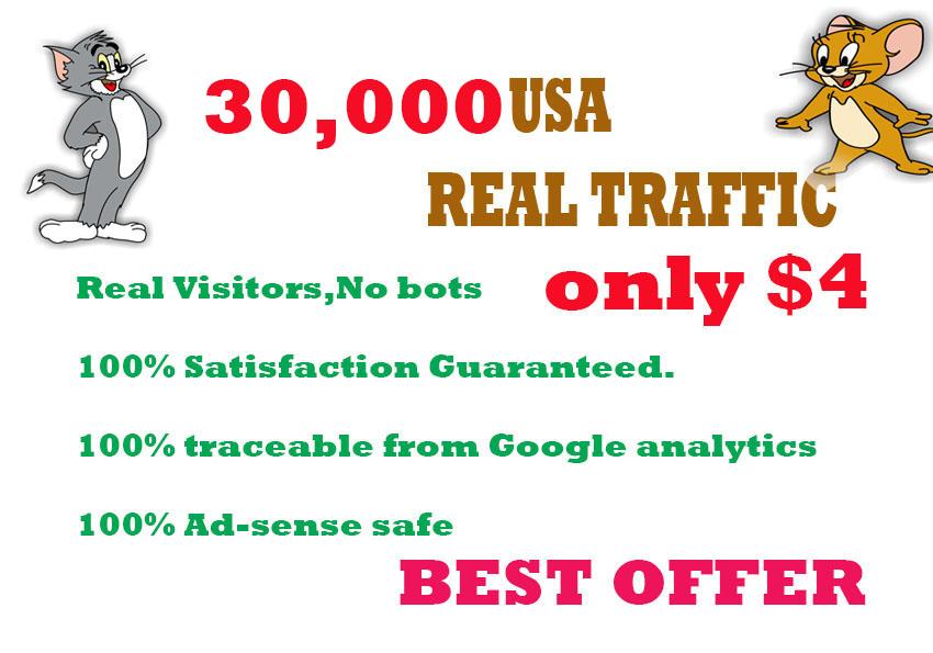 30,000 HUMAN TRAFFIC BY &nbsp Google, Twitter, Youtub...