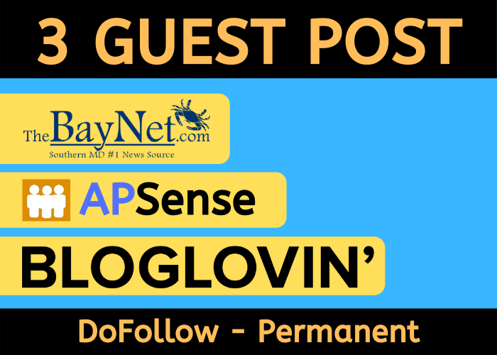 Write And Publish 3 Guest post on BlogLovin, Thebaynet, Apsense