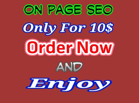 On Page Seo For Your Website Only For 5