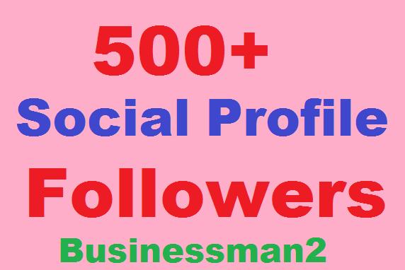 500+ Social Profile Followers High Quality
