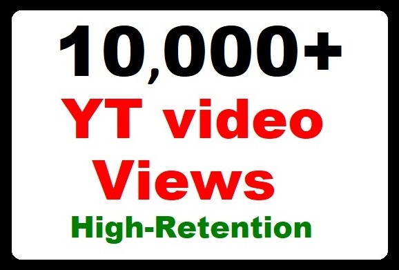 10000+ YouTube Video Promotion High Retention, Safe Ranking and Fastest delivery
