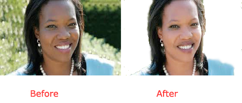 I do 5 image background remover or change and change Face color