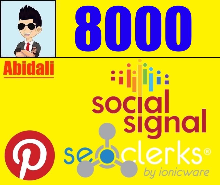 8,000 High Quality PR9 Pinterest Real Social Signals